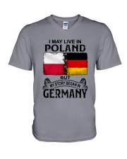 LIVE IN POLAND BEGAN IN GERMANY V-Neck T-Shirt thumbnail