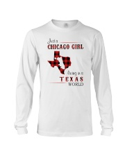 CHICAGO GIRL LIVING IN TEXAS WORLD Long Sleeve Tee thumbnail