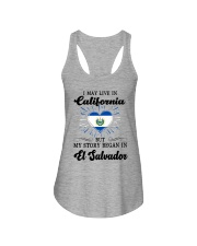 LIVE IN CALIFORNIA BEGAN IN EL SALVADOR HEART Ladies Flowy Tank thumbnail
