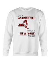 WYOMING GIRL LIVING IN NEW YORK WORLD Crewneck Sweatshirt thumbnail