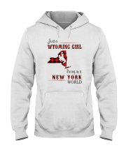WYOMING GIRL LIVING IN NEW YORK WORLD Hooded Sweatshirt thumbnail