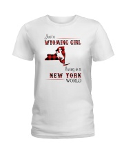 WYOMING GIRL LIVING IN NEW YORK WORLD Ladies T-Shirt thumbnail