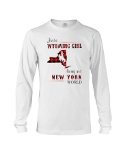 WYOMING GIRL LIVING IN NEW YORK WORLD Long Sleeve Tee thumbnail