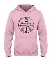 JUST AN IOWA GIRL LIVING IN AN ARIZONA WORLD Hooded Sweatshirt thumbnail