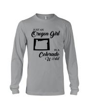 JUST AN OREGON GIRL IN A COLORADO WORLD Long Sleeve Tee thumbnail