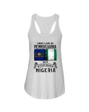 LIVE IN PENNSYLVANIA BEGAN IN NIGERIA Ladies Flowy Tank thumbnail
