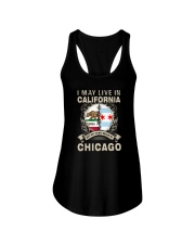 I MAY LIVE IN CALIFORNIA BUT MY STORY IN CHICAGO Ladies Flowy Tank thumbnail