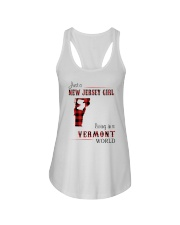 NEW JERSEY GIRL LIVING IN VERMONT WORLD Ladies Flowy Tank thumbnail