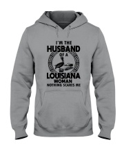 I'M THE HUSBAND OF A LOUISIANA WOMAN Hooded Sweatshirt tile