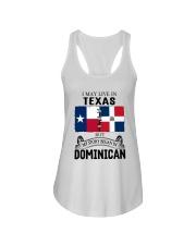 LIVE IN TEXAS BEGAN IN DOMINICAN ROOT WOMEN Ladies Flowy Tank thumbnail
