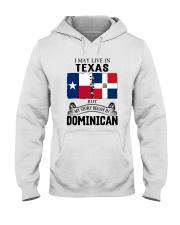 LIVE IN TEXAS BEGAN IN DOMINICAN ROOT WOMEN Hooded Sweatshirt thumbnail