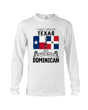 LIVE IN TEXAS BEGAN IN DOMINICAN ROOT WOMEN Long Sleeve Tee thumbnail