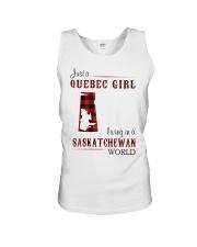 QUEBEC GIRL LIVING IN SASKATCHEWAN WORLD Unisex Tank thumbnail