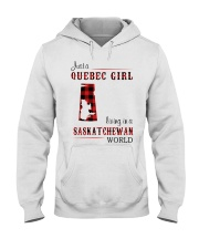 QUEBEC GIRL LIVING IN SASKATCHEWAN WORLD Hooded Sweatshirt thumbnail