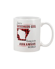 WISCONSIN GIRL LIVING IN ARKANSAS WORLD Mug tile