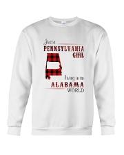PENNSYLVANIA GIRL LIVING IN ALABAMA WORLD Crewneck Sweatshirt thumbnail