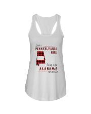 PENNSYLVANIA GIRL LIVING IN ALABAMA WORLD Ladies Flowy Tank thumbnail