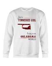 TENNESSEE GIRL LIVING IN OKLAHOMA WORLD Crewneck Sweatshirt thumbnail