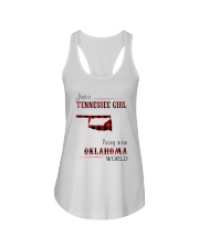 TENNESSEE GIRL LIVING IN OKLAHOMA WORLD Ladies Flowy Tank thumbnail
