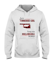 TENNESSEE GIRL LIVING IN OKLAHOMA WORLD Hooded Sweatshirt thumbnail