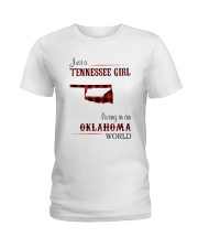 TENNESSEE GIRL LIVING IN OKLAHOMA WORLD Ladies T-Shirt thumbnail