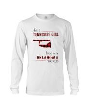 TENNESSEE GIRL LIVING IN OKLAHOMA WORLD Long Sleeve Tee thumbnail
