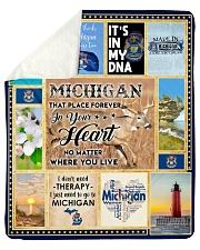 "MICHIGAN IT'S IN MY DNA Sherpa Fleece Blanket - 50"" x 60"" thumbnail"