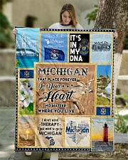 "MICHIGAN IT'S IN MY DNA Quilt 50""x60"" - Throw aos-quilt-50x60-lifestyle-front-01"