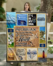 "MICHIGAN IT'S IN MY DNA Quilt 50""x60"" - Throw aos-quilt-50x60-lifestyle-front-03"