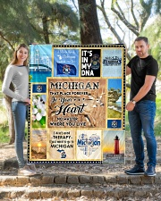 """MICHIGAN IT'S IN MY DNA Quilt 50""""x60"""" - Throw aos-quilt-50x60-lifestyle-front-04"""