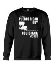JUST A PUERTO RICAN GUY LIVING IN LOUISIANA WORLD Crewneck Sweatshirt thumbnail