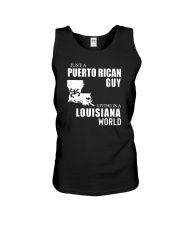 JUST A PUERTO RICAN GUY LIVING IN LOUISIANA WORLD Unisex Tank thumbnail