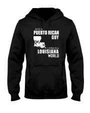 JUST A PUERTO RICAN GUY LIVING IN LOUISIANA WORLD Hooded Sweatshirt thumbnail