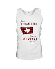 TEXAS GIRL LIVING IN MONTANA WORLD Unisex Tank thumbnail