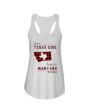 TEXAS GIRL LIVING IN MONTANA WORLD Ladies Flowy Tank thumbnail