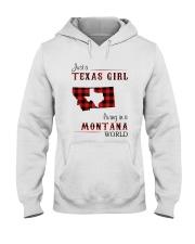 TEXAS GIRL LIVING IN MONTANA WORLD Hooded Sweatshirt thumbnail