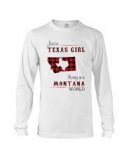 TEXAS GIRL LIVING IN MONTANA WORLD Long Sleeve Tee thumbnail
