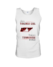 VIRGINIA GIRL LIVING IN TENNESSEE WORLD Unisex Tank thumbnail