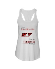 VIRGINIA GIRL LIVING IN TENNESSEE WORLD Ladies Flowy Tank thumbnail
