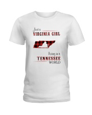VIRGINIA GIRL LIVING IN TENNESSEE WORLD Ladies T-Shirt thumbnail