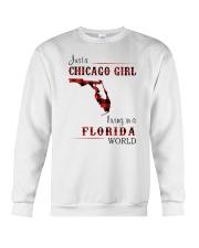 CHICAGO GIRL LIVING IN FLORIDA WORLD Crewneck Sweatshirt thumbnail