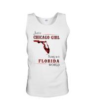 CHICAGO GIRL LIVING IN FLORIDA WORLD Unisex Tank thumbnail