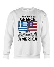 LIVE IN GREECE BEGAN IN AMERICA ROOT WOMEN Crewneck Sweatshirt thumbnail