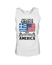 LIVE IN GREECE BEGAN IN AMERICA ROOT WOMEN Unisex Tank thumbnail