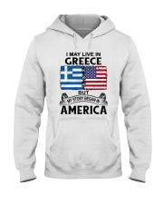 LIVE IN GREECE BEGAN IN AMERICA ROOT WOMEN Hooded Sweatshirt thumbnail