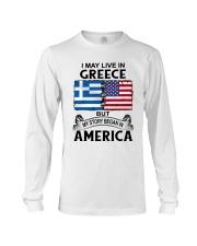 LIVE IN GREECE BEGAN IN AMERICA ROOT WOMEN Long Sleeve Tee thumbnail