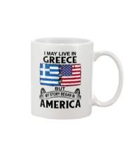LIVE IN GREECE BEGAN IN AMERICA ROOT WOMEN Mug thumbnail