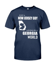 JUST A JERSEY GUY LIVING IN GEORGIA WORLD Classic T-Shirt front