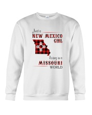 NEW MEXICO GIRL LIVING IN MISSOURI WORLD Crewneck Sweatshirt thumbnail