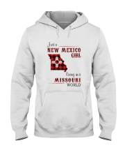 NEW MEXICO GIRL LIVING IN MISSOURI WORLD Hooded Sweatshirt thumbnail